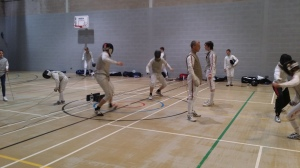 Buccaneers fencers training